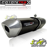 Escape Ponteira Coyote Trs Tri oval Falcon 400 2006    Preto