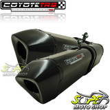 Escape Ponteira Coyote Trs Tri oval Par Mt 03 Black Yamaha