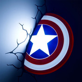 Escudo Do Capit�o Am�rica Lumin�ria 3d Light Fx Avengers