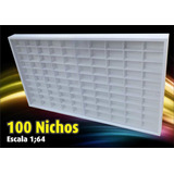 Estante Expositor  100 Nichos  Hot Wheels   Pintura Acrilica