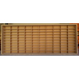Estante Slim P  Carrinhos 100 Nichos 1 64 Mdf S  Porta