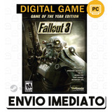 Fallout 3 Goty Edition Cd key Steam Pc Envio Imediato