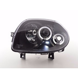 Farol Projector Angel Led Renault Clio 00 02 Black   Xenon