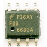 Fds6680a  Mosfet 6680a Transistor Smd