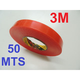Fita Dupla Face 3m 20mm X50 Mt Ideal Para Stands canaletas