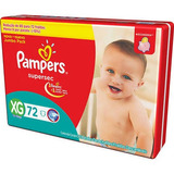 Fraldas Pampers Supersec Jumbo Bag Xg   72 Unidades
