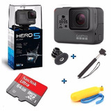 Go Pro Hero5 Black Camera Gopro 5 Tela Lcd  64gb  2 Bastoes