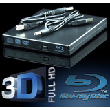 Gravadora Blu ray 3d Usb Externo Slim Cd Dvd Leitor Bluray