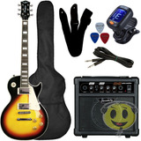 Guitarra Kit Strinberg Les Paul Clp79   Cubo Sg15   Kadu Som