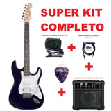 Guitarra Shelter California Calstd25 Bl Kit Cheiro De Musica