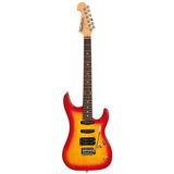Guitarra Washburn S3hxrs Flame Red Sunburst Em Alder H s s