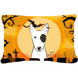 Halloween Bull Terrier Tecido Decorativa Pillow Bb1767pw1216