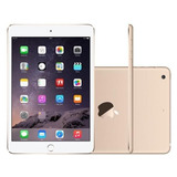 Ipad Mini 3 Apple 16gb Dourado Tela 7 9 Retina   Wi fi Pr