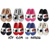 Kit 10 Sandalias Atacado Melissa Beach Slide Mickey Fc