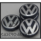 Kit 4pçs Calota Centro P  Roda Original Vw Gol G5| Fox| Polo
