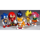 Kit Action Figure Sonic  conjunto C 6 Bonecos Pronta Entrega