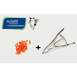 Kit Alicate Elastrador Para Ovinos    100 Borrachinhas