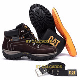 Kit Bota Adventure Caterpillar   Palmilha Gel Carteira Cinto