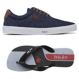Kit C  01 Tenis Sapatenis Polo Joy Masculino C  01 Chinelo