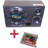 Kit Caixa Trio Usina 550w Rms   M�dulo Soundigital Sd400 1d