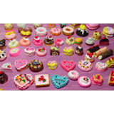 Kit Com 5 Miniaturas Comida P  Boneca Barbie Blythe  re Ment