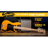 Kit Contrabaixo Squier Affinity P  Bass Combo Fender Rumble