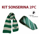 Kit Cosplay Harry Potter Cachecol E Gravata Sonserina   2pc
