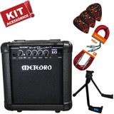Kit Cubo Amplificador Guitarra 10w Overdrive Mg10 Meteoro