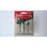 Kit De Fresas Com 3 Pe�as Makita