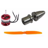 Kit Emax 2822   Spinner 3mm   Helice 9x5