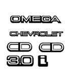 Kit Emblemas Omega 2 Cd Chevrolet 3 0i    Brinde