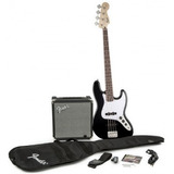 Kit Fender Squier Jazz Bass Affinity Bk   Amp Rumble 15g