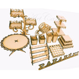 Kit Festa Proven�al Mdf Cru   21 Pe�as