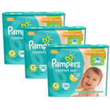 Kit Fralda Pampers Confort Sec G 114 Tiras