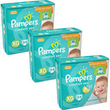 Kit Fralda Pampers Confort Sec Xg 102 Tiras
