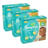 Kit Fralda Pampers Confort Sec Xxg 90 Tiras