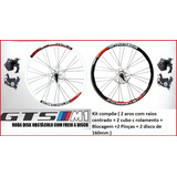 Kit Freio A Disco Bike Cubo C Rolamento Pin�as Rodas Aero