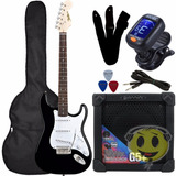 Kit Guitarra Strato Shelter California   Cubo Giannini G5