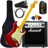 Kit Guitarra Tagima Tg530  kit Marshall Oferta Goias Musical