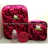 Kit Hello Kitty Rosa Original : Mochila G Costas   Lancheira