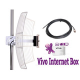 Kit Para Vivo Internet Box C  Antena De 27dbi   Cabo De 10mt