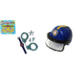Kit Policial Infantil 3 Pe�as E Capacete