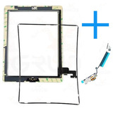 Kit Tela Vidro Touch Ipad 2   Frame Borda   Flex Wifi