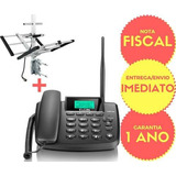 Kit Telefone Celular Rural Fixo 2 Chip Elgin Gsm200   Antena