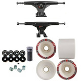Kit Truck Longboard 180mm Invertido   Rodas Long Branca