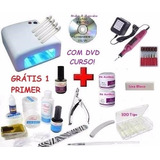 Kit Unha Gel Acrigel Dvd   Cabine   Lixa   Kit Gel Acrygel