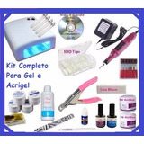 Kit Unha Gel Acrygel Dvd   Cabine   Lixa   Kit Gel Acrygel