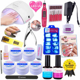 Kit Unhas Acrigel  Mini Lixa Cabine Uv Led Bivolt N1 24w