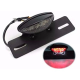 Lanterna Traseira Suporte Placa Led Moto Custom Cafe Chopper