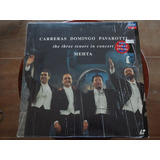 Laser Disc The 3 Tenors In Concert   Roma 1990